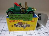 RENAULT TWO SEATER ~VINTAGE 1911~Y2-2; 1~GREEN STEERING WHEEL-MATCHBOX~MIB~