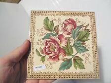 Ceramic Tile Vintage Floral Flower Flowers Art Nouveau Old Vintage / Retro