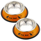 Professional Anti-skid Stainless Steel Pet Dog Cat Food Feed Water Bowl Dish New