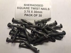 Sheradised Square Twist Nails 3.75 X 30mm  (X30)