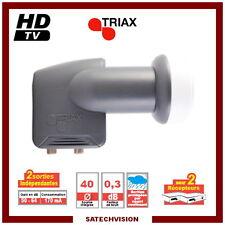 LNB Twin Triax TTW 007 0,3 dB Gain 64 dB Tête 2 Sorties Full HD 3D Ready