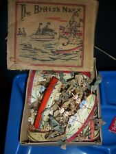 COLLECTABLE BOXED 'THE BRITISH NAVY' c1900  collection of 7ships+ 2 small craft