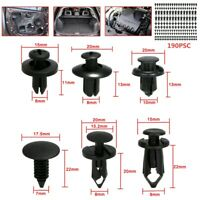 190Pcs Auto Fastener PE Fastener Rivet Car Push Pin Rivet Trim Clips Kit 6 sizes