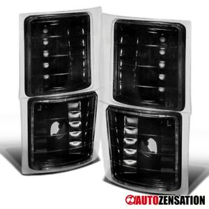 For 94-98 Chevy C/K C10 Silverado Tahoe Suburban Black Corner Signal Lights Lamp