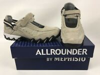 Mephisto All Rounder Womens Niro Mary Jane Beige Suede Slip On Shoes Size 6.5