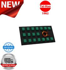 Tai-Hao TPR Rubber Backlit Double Shot 18 Keys Green KEY0087
