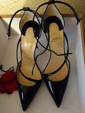 christian louboutin Fliketta 100 Patent Black. Brand New 7B Very Sexy Heels.