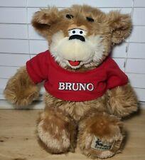 "VINTAGE 1998 BRUNO KENNY ROGERS 16"" TEDDY BEAR RED STUFFED ANIMAL PLUSH TOY"