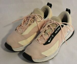 NIKE ~ Rivah Pale Pink White Lightweight Knit Sneakers US 8 EU 39 107910338