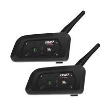 2Pcs Brand EJEAS V6 Pro 1200M Motor Bluetooth Intercom Helmet GPS Waterproof