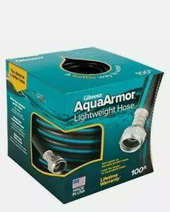 """Gilmour 869001-1001 AquaArmor Lightweight Hose 1/2"""" x 100' 100 Foot Black/Aqua"""