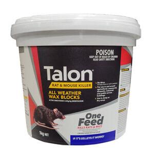 Talon Wax Blocks 1Kg Rat Mouse Killer Bait One Feed