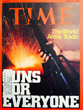 VINTAGE TIME MAGAZINE MARCH 3 1975 THE WORLDS ARM TRADE ON COVER W/LABEL