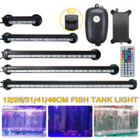 12-46CM LED Submersible Aquarium Light Fish Tank Lighting Lamp+Oxygen Air Pump