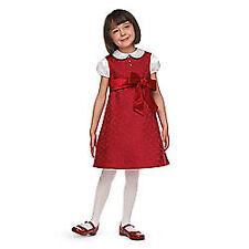 NEW American Girl Girls Sz 4 Berry Brocade Holiday Dress to Match Bitty