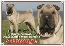 Hundeschild - SHAR PEI - Warnschild - Metallschild - bis DIN A3 bestellbar