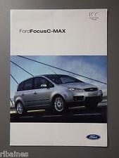 R&L Sales Brochure: Ford Focus C-Max UK 2003