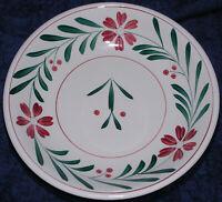 "Pasta Serving Bowl Large Japan Hand Painted Floral Stoneware Porcelain 11.75"""
