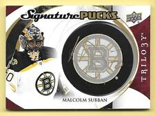 15/16 Upper Deck Trilogy Signature Pucks #MS Malcolm Subban Autograph Card