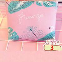 Neceser Maquillaje PU cuero Flamingo bolso Mini cartera embrague fresa monedero