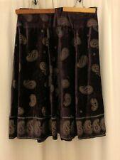Soft Surroundings Purple Skirt Size 3X Paisley Rayon Blend Lined