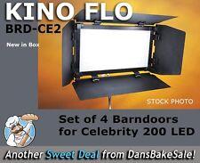 Kino Flo BRD-CE2 Set of 4 Barndoors for Celeb 200 LED Fixture - Brand New in Box