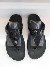 FitFlops Black Patent Flip Flop Thong Sandals~Size 8