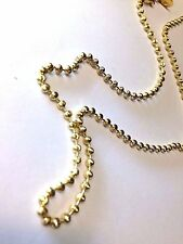 """NICE! 20"""" 3mm New Diamond Cut Gold over Sterling Silver 925 Ball Chain Necklace"""