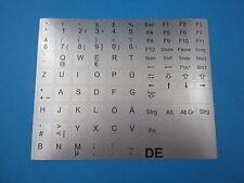 Tastaturaufkleber für Notebook Deutsch silber11,5mm x 11,5mm QWERTZ