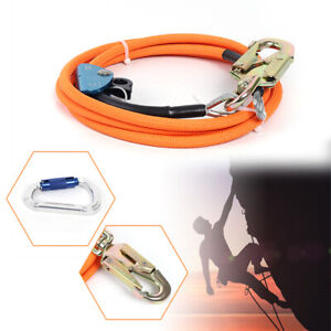 """1/2"""" X 10 Ft Pro Steel Wire Core Flipline Kit Flipline for Tree Climbing Lanyard"""