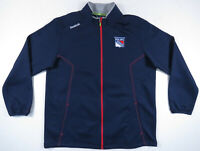 New York Rangers Reebok Center Ice Collection NHL Full Zip Jacket Mens XL NWOT