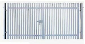 2.4m High Double Palisade Security Gates with Posts