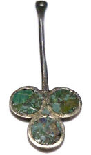 """DESIGNER """"TBM"""" ANTIQUE OLD MEXICO STERLING SILVER CLUSTER PALL PENDANT CHARM"""