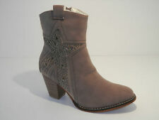 Faux Suede Textured Ankle Women's Boots