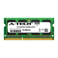4GB DDR3 PC3-10600 1333MHz SODIMM (Crucial CT4G3S1339M Equivalent) Memory RAM