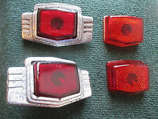 2 PONTIAC GLASS TAIL LIGHTS & 2 SPARE LENSES T334 5931535  194142 1946 1947 1948
