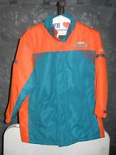 Miami Dolphins NFL Reebok Orange & Teal Team Logo XL Coat