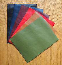 VEG-TAN LEATHER PIECES OF SHEEPSKIN, CRAFT PACK 6 @ 20CM X 15CM ASSORTED COLOURS
