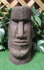 "12"" Easter Island Head Tiki Latex Fiberglass Production Mold Concrete Plaster"