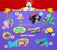 1995 McDonalds Attack Pack MIP Complete Set - Lot of 4, Boys, 3+