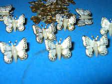 25 BUTTERFLY EMBELLISHMENTS FOR LEATHER AND OTHER CRAFTS