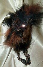 Headband Handmade Womens Real   Mink Fox Fur & Marabou Feathers