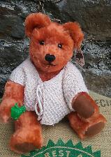 """Holland artist coloured mohair teddy bear by WICHER BEAR, tags, 13"""""""