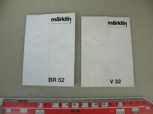 O682-0, 5 #2x Märklin Z Gauge Mini Club Instructions Locomotives V 32+ Br 52