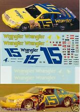 DECAL NASCAR #15 WRANGLER 1983 EARNHARDT SR. or 1984 RICKY RUDD FORD THUNDERBIRD