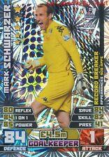 438 SCHWARZER # FULHAM.FC AUSTRALIA RECORD BREAKER CARD MATCH ATTAX 2015 TOPPS