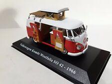1/43CARAV02 AUTOCARAVANA CAMPING CAR VOLSWAGEN KOMBI WESTFALIA SO 42 1966