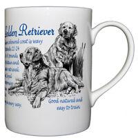 Golden Retriever Dog Breed Facts Bone China Mug - Ideal Gift