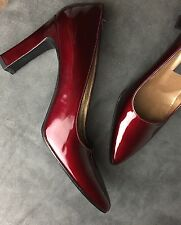 New Stuart Weitzman Red Patent Leather Pumps Heels Shoes 7 #15