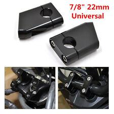 2× Black 7/8″ CNC Motorcycle Handle Bar Mount Riser Clamp Aluminium ATV Scooter